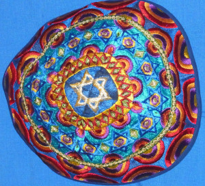 The Kippah I bought in the Jewish quarter.